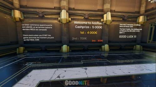 AdzRun, 5 000€ de Cashprize