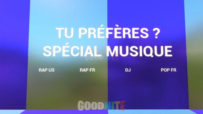 Tu préfères ? Spécial Musique