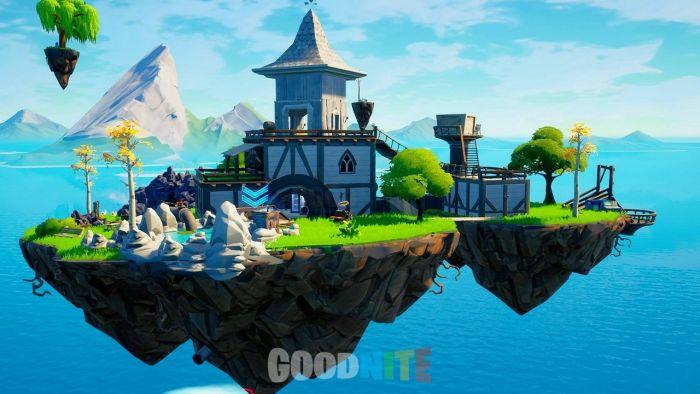 Robinson's flying island